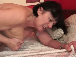 Boy loves chubby grandma