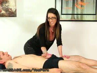 blowjob, glasses, big tits
