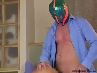 Avalon getting banged on her twat doggystyle by a man with a mask