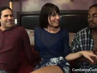 Dana і її cuck чоловік ділитися a чорна пеніс