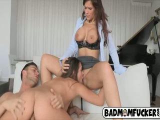 Hardcore threesome sex with horny mom