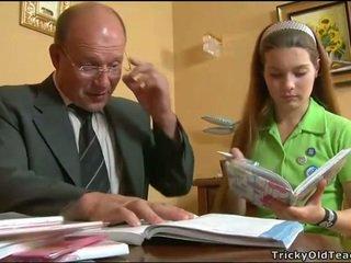 Kåta läraren seducing tonårs