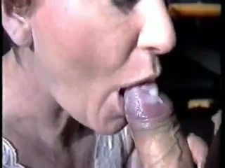 groß, saugen, sperma im mund