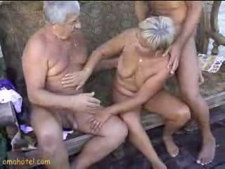 Sexy Granny giving blowjob Video