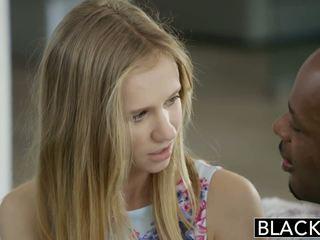 Blacked drobne blondynka nastolatka rachel james pierwszy duży czarne kutas