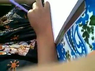 Mijn vriend muslim meisje boezem pers & lipock