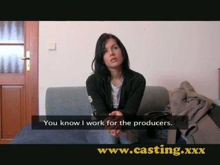 blowjob, brunettes, casting
