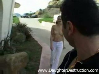 Daddy loves to humiliate his teen daughter