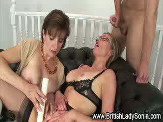 British threesome sluts cumshot
