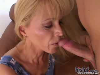 Nicole moore moshë e pjekur maskë spunk e shtënë blondie