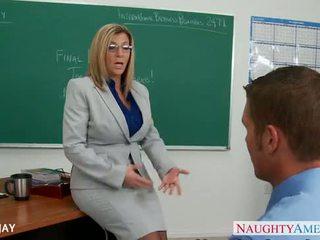 Milf professora sara jay caralho estudante