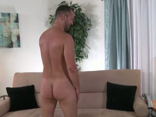 Hairy, beefy str8 guy gay4pay training.