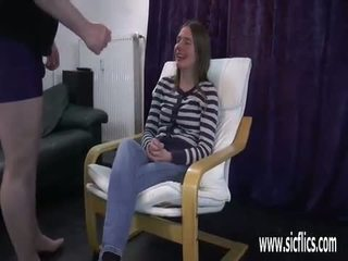 si rambut cokelat, kulit, vaginal masturbasi