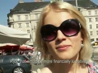 Cute Euro girl fucked on local market