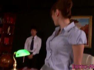 Squirting asian babe Yuma Asami in stockings