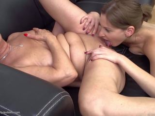 Taboo Lesbian Sex with Granny and Granddaughter: HD Porn 74