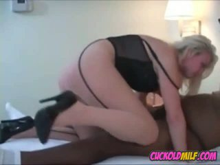 Cuckold MILF Sucking and Fucking BBC Sissy Cleans up.