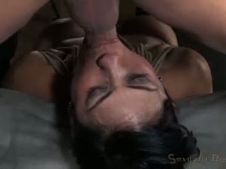 Cougar Gets Owned W Hard Cock Intense Inverted Deep Throat Brutal Fucking Amazing Rope Bondage