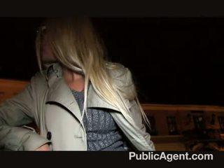Publicagent - blondi milf saada perseestä varten käteinen