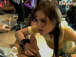 Sasha Grey is sucking cock during hardcore orgy