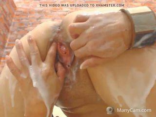 甜 cream: 自由 squirting 高清晰度 色情 视频 94