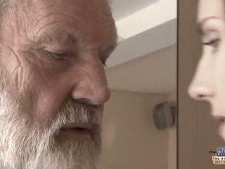 Teenie girl in pain fucks old man for spicy oblivion