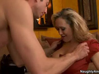 Cougar brandi love thumps an awesome weenie all rigid in her jus hot mouth