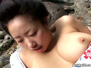 Seksowne geisha kotone yamashita fucked ciężko