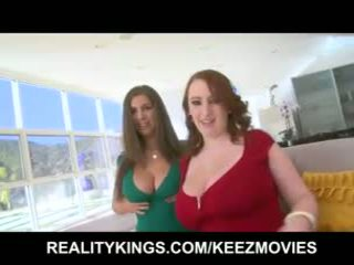 big boobs, licking, huge tits