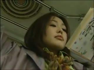 японски, лесбийка, автобус