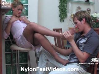 jalka fetissi, seksikäs jalat, sukkahousut