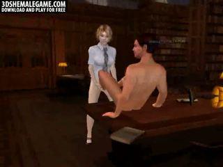 Guy feets stoking tranny cock
