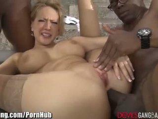 stor pikk, dobbel penetrasjon, store bryster