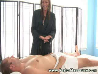 Hungry masseuse sucking on client and cant get enough