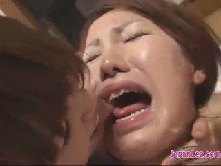 亞洲人 女孩 女同志 狂歡