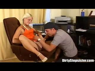 Dirty Stepsister Make Stepbro Eat Her Wet Pussy