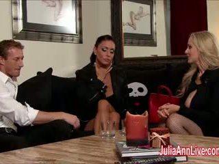 Julia ann & jessica are バウンド, gagged, & ファック!