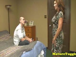 Gros seins belle mère leena sky paluchage sur bite, porno 20