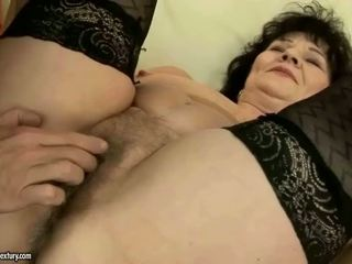Chubby grandma getting fucked rough