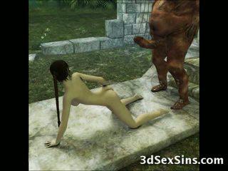 ३डी aliens और demons बकवास लड़कियों!