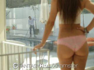 Fantasyhd - Babe Brunette Dani Daniels Fucks the Pool