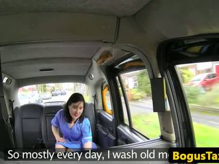 Brit Taxi Nurse Deepthroating Cabbies Cock: Free HD Porn b8