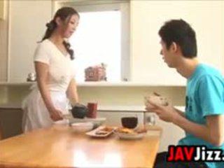 Greu japonez pula distracție în the bucatarie