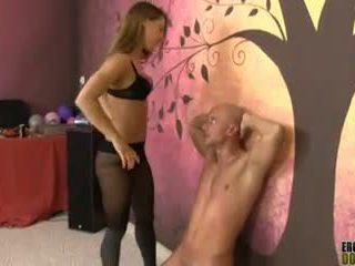 Smothering with armpit and ear pulling fetish