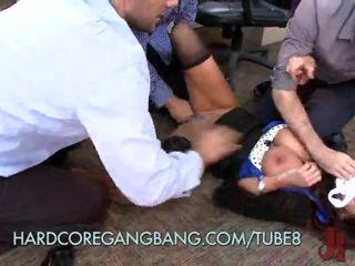 熱 辦公室 懶婦 gets gangbanged