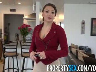 Propertysex - groß arsch latina echt estate agent ausgetrickst in amateur sex video