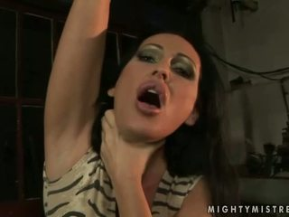 Mistress Mandy Bright punishing hot blonde