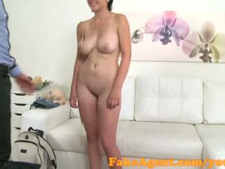 FakeAgent Cute student looking for fast cash in casting