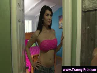 Tgirl fetish tranny sucks cock