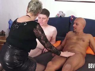 德語 奶奶 他媽的 two dicks, 免費 德語 他媽的 高清晰度 色情 e5